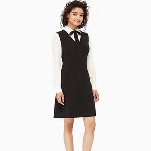 Kate Spade New York Bow Tie Crepe A-Line Dress 14